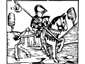 The Knight Wood Carving and 2D DXF file