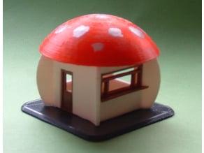 Mushroom Kiosk H0 1:87