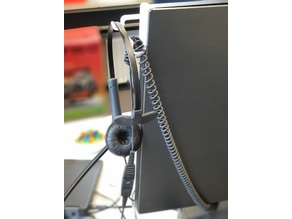 Headset support hook for DELL U4919DW Monitor
