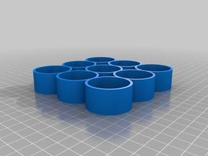 My Customized Parametric bottle tray for small e-liquid/paint/nail varnish bottles