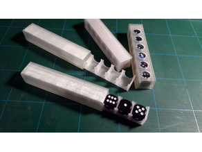 Slim dice container with drawer