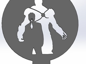 coffee stencil - Tony Stark, Ironman
