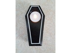 Coffin Tea Light Holder - Halloween