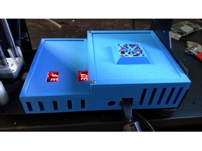 Makergear M2 Larger Electronics Box with 2 LM2596 Holders
