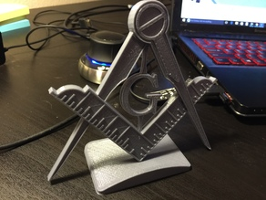 Free Mason Business Card Holder/ Stand