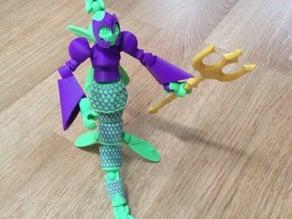 Tinkerplay Mermaid for dual material printing