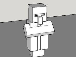Good clean model of Minecraft villager
