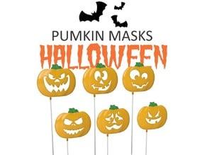 Set of Halloween Pumkin masks