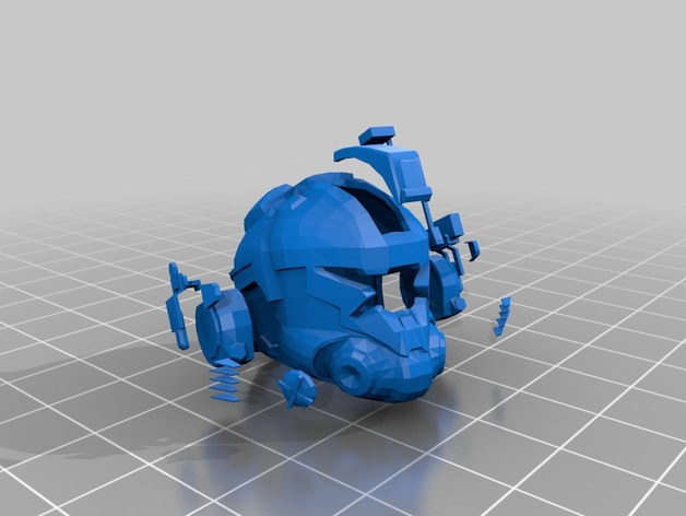 TitanFall Pilot Helmet Remeshed by Jace1969 - Thingiverse