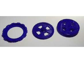 Wheel and Tyre for 28BYJ-48 Servo