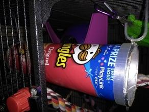 Pringles tube hanger for rats & small animals