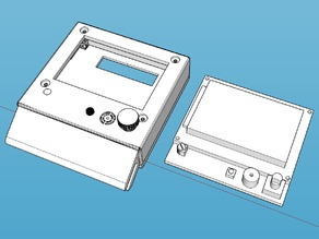 LCD 12864 Case and Holder for acrylic frame or other 6/8mm box frame