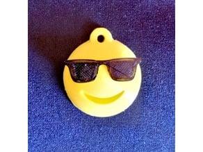 Emoji Sunglasses Keychain