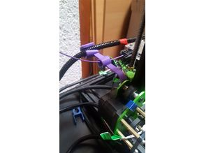 Filament guide and Extruder cable holder for Tevo Tornado with top-spoolholder REMIX