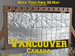 Vancouver Canada - 3D Map