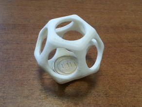 Dodecahedron Coin Trap for coins over 20mm diameter