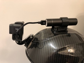Helmet Charger Battery Holder for GoPro mounts.