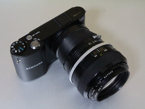 Samsung NX mount to Nikon F mount adapter