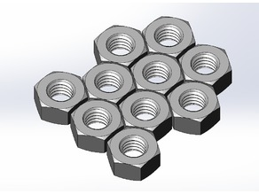Hexagon Nuts M2, M3, M4, M5, M6 and M8 (Nested 10x)