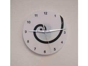 Fibonacci Spiral Clock