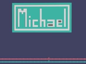 Michael Name Plate