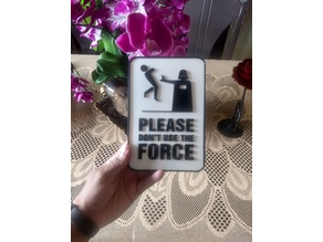 Decoration - Plate - Don't use the force