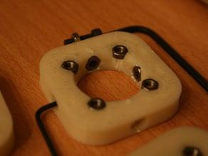 Locking 608 Bearing Bracket with Captive Nuts for Makerbot Cupcake
