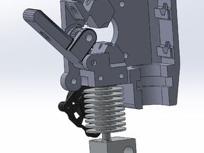 Prusa i3 extruder with 18mm capacitive sensor
