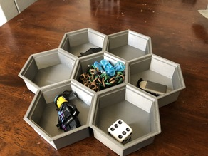 Stackable Hex Tray w/ optional lid