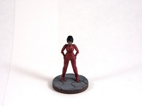 Female Starfarer (28mm Miniature)