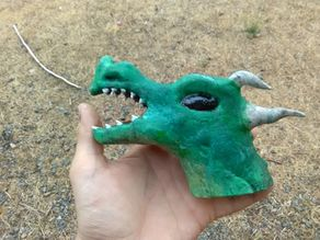 Horned Dragon Head