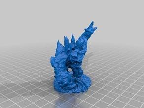 Elemental Golem dynamic pose & base