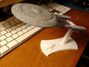 Minimal USS Enterprise D Display Stand