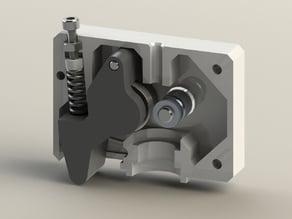 QU-BD OneUp/TwoUp Extruder Body (E3D+Anubis+MK8 Drive Gear)