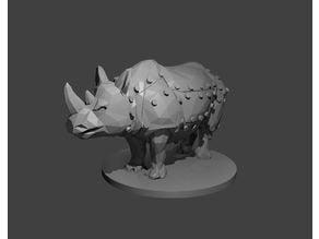 Mechanical Polygonal Rhino