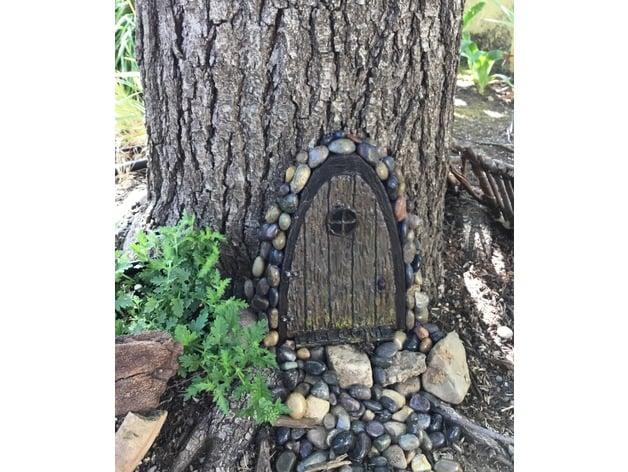 Thingiview  sc 1 st  Thingiverse & Arch Shape Fairy Door - Gnome Home Hobbit Hole Garden Elf Door by ...