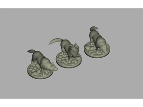 RPG Miniature - Pack Wolf / Lobos