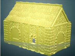 Medieval Cottage 2 (28mm/Heroic scale and 15mm scale)