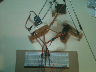 Delta Robot v1 with three arms