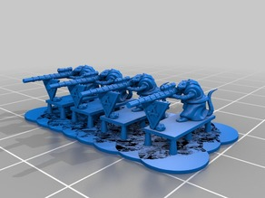 Ratty Gunners for 10mm warmaster