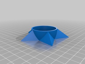 Parametric star-like tealight holder