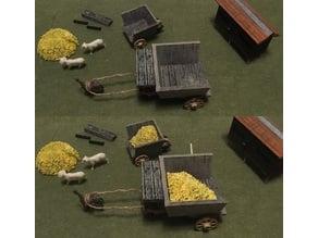 Miniature Medieval Hay Carts