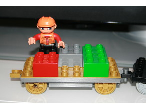 Lego DUPLO train system compatible Wagon