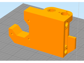 Hesine M505 Anet A8 (Prusa i3) X-Mount incl. 8mm bearing (LM8UU) and belt tensioner (version without Z-endstop)