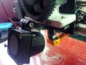 Adjustable Blower-Fan Mount for Prusa i3 Greg's Wade Extruder (Tweaked version)