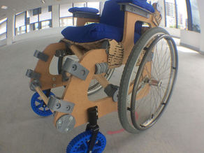 3D printed wheelchair for MakerED challenge #MakerEdChallenge2