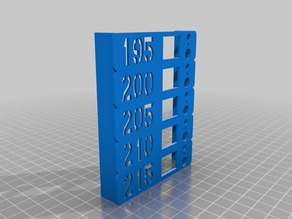 Customisable extruder temperature test object