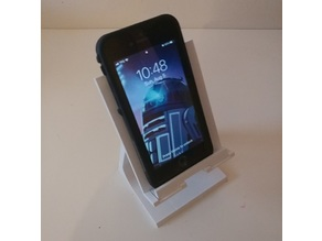 Universal phone/tablet stand with adjustable slider limit (especially for larger phones with cases)