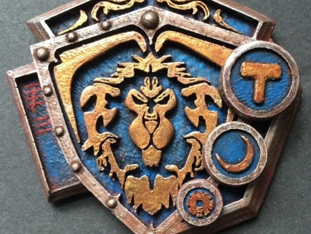 Grand Marshal Shield (WoW) by Fatcows - Thingiverse