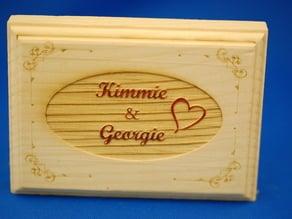 Kimmie and Georgie Wood Block